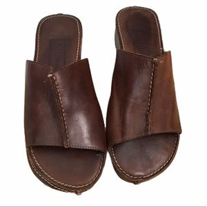 Cole Haan Sz 7 Brown Leather Slide Sandals